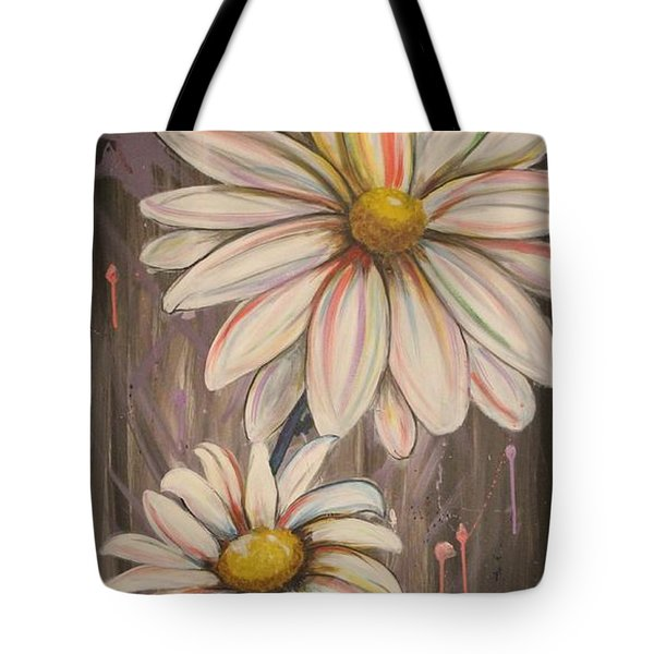 Cotton Candy Daisies Tote Bag