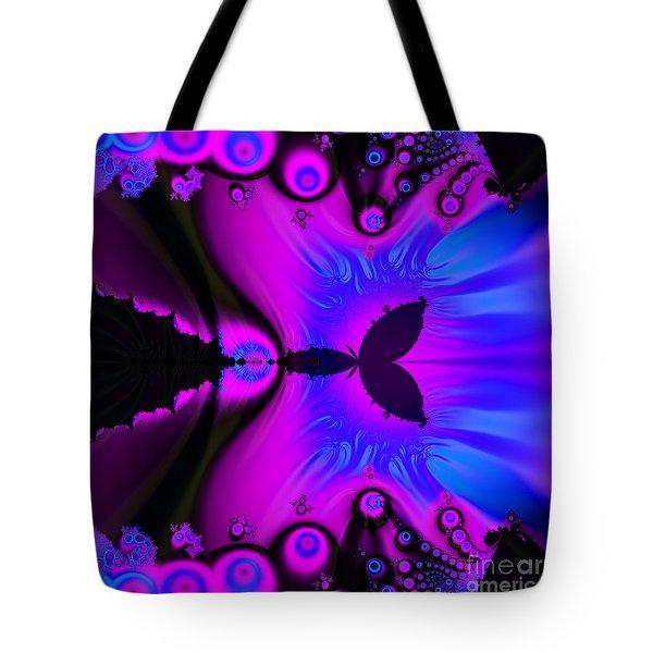 Cotton Candyland Fractal Tote Bag