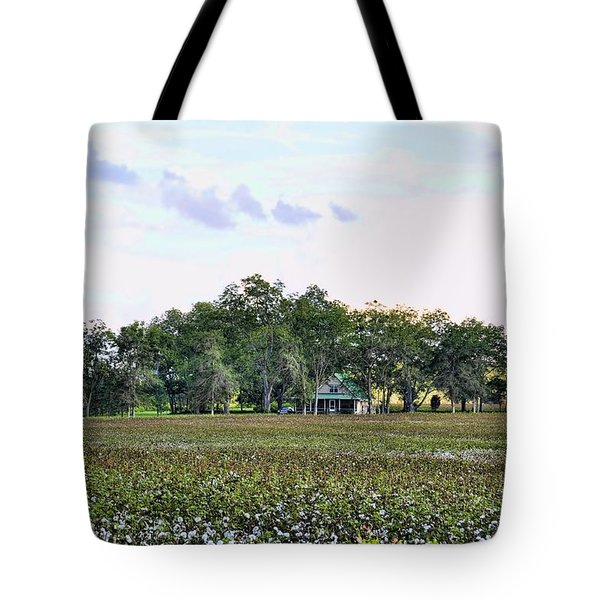 Tote Bag featuring the photograph Cotton Field In Georgia by Jan Amiss Photography