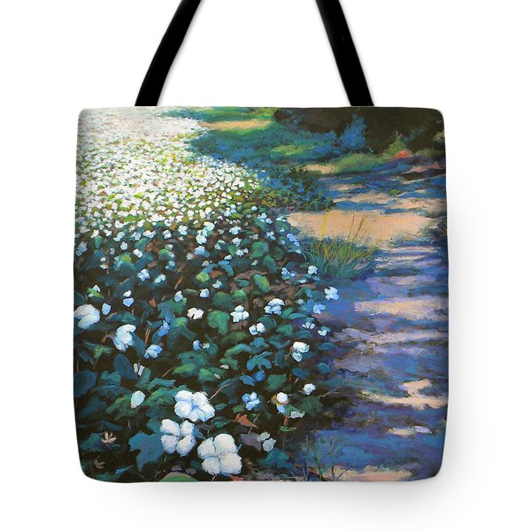Cotton Field Tote Bag by Jeanette Jarmon