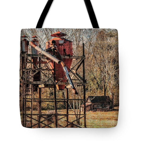 Cotton Gin In Vincent Alabama Tote Bag by Phillip Burrow