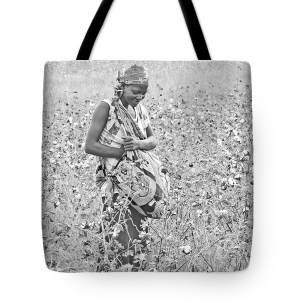 Tote Bag featuring the photograph Cotton Picker by Pravine Chester