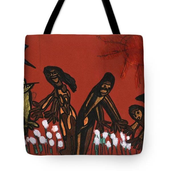 Cotton Pickers Tote Bag by Darrell Black