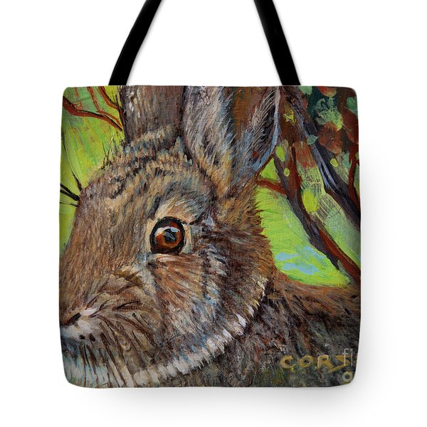 Cotton Tail Rabbit Tote Bag