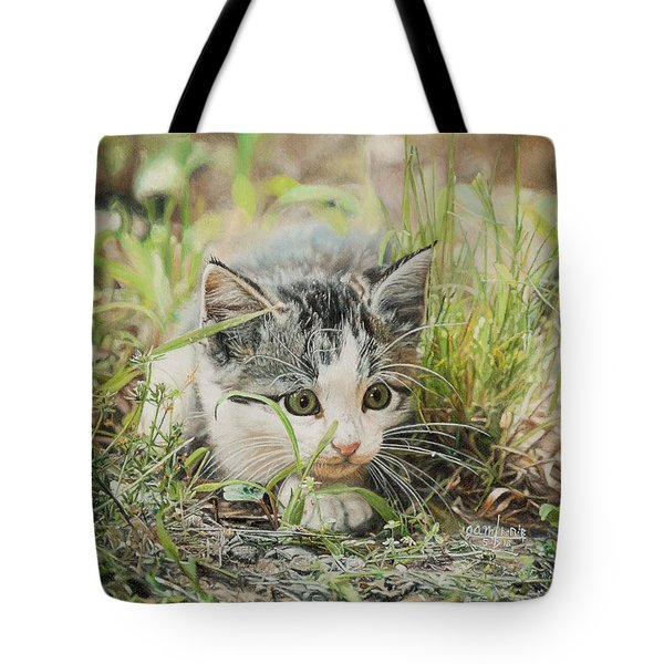Cotton The Kitten Tote Bag