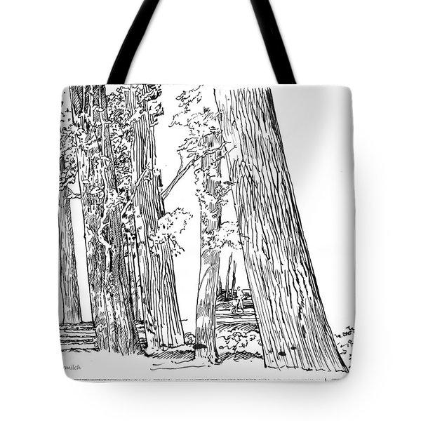 Cotton Woods Creve Coeur Path Tote Bag by John Lautermilch
