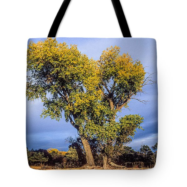 Cottonwood #4 Fall Ranch Colorado Tote Bag by John Brink
