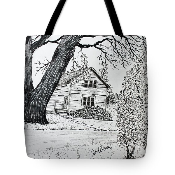 Cottonwood Homestead Tote Bag by Jack G  Brauer