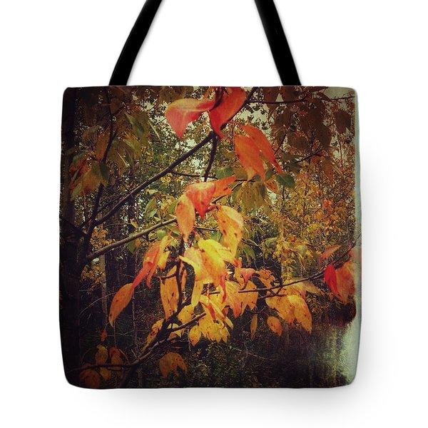 Cottonwood Leaves Tote Bag