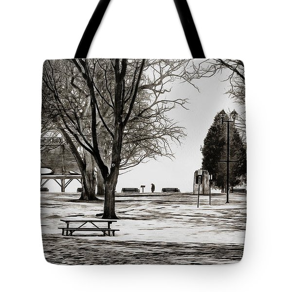 Couchiching Park In Pencil Tote Bag