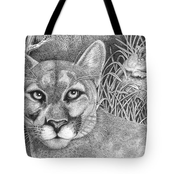 Cougar Tote Bag by Lawrence Tripoli
