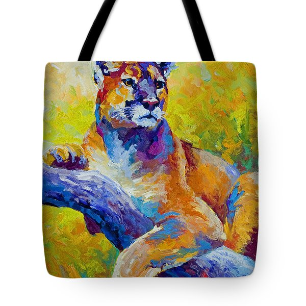 Cougar Portrait I Tote Bag