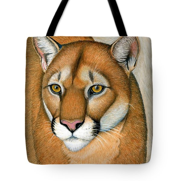 Cougar Portrait Tote Bag