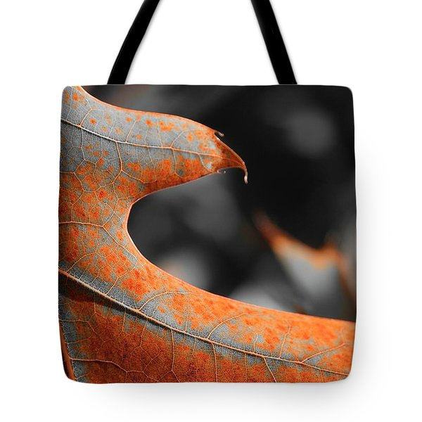Cougar Rusty Leaf Detail Tote Bag