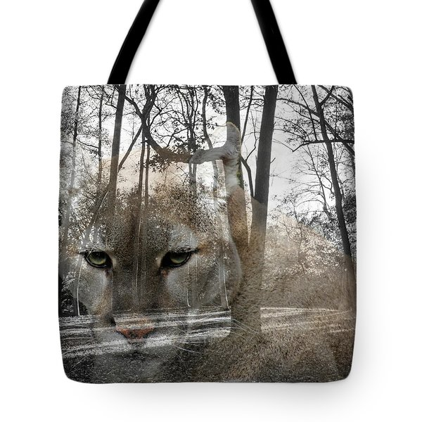 Cougar The Cunning One Tote Bag
