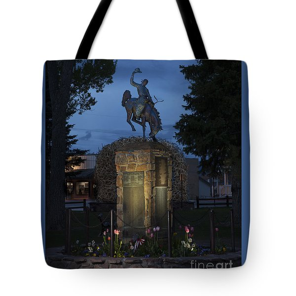 Coulter Memorial, Jackson, Wyoming Tote Bag