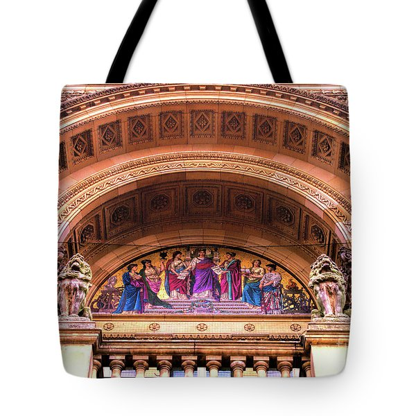 Tote Bag featuring the photograph Council House Dome Entrance In Sunshine by Baggieoldboy