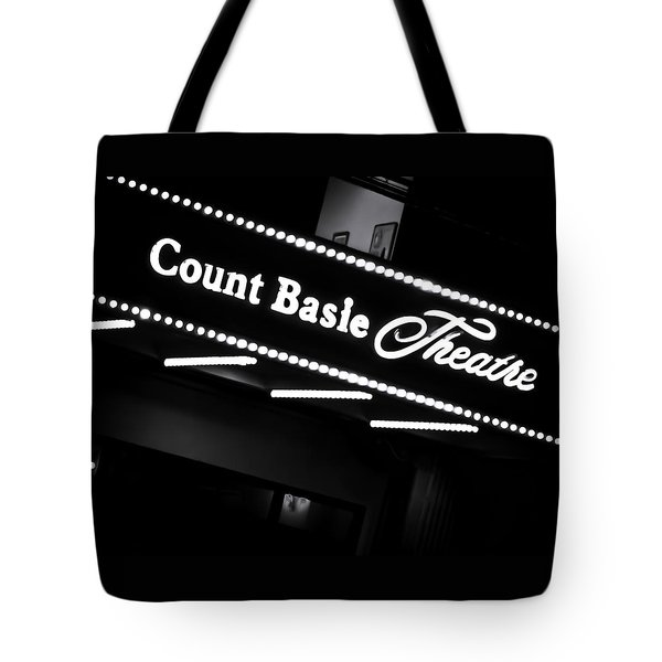 Count Basie Theatre In Lights Tote Bag
