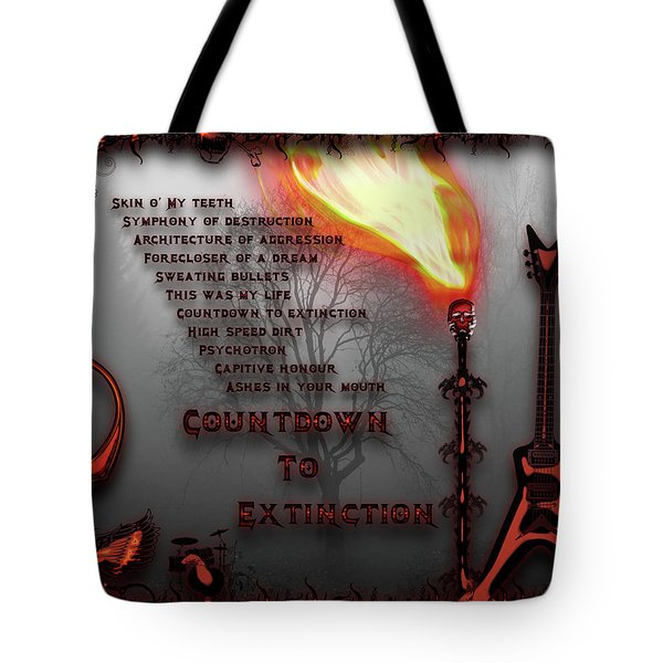 Count Down To Extinction Tote Bag