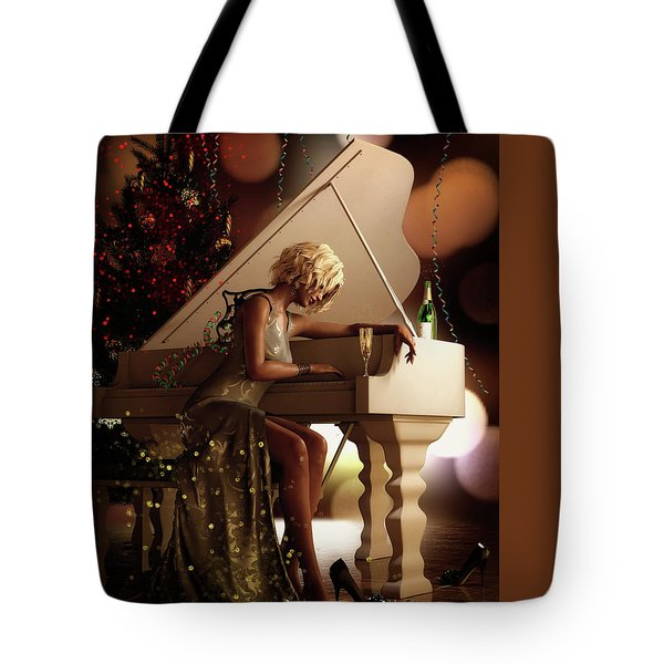Tote Bag featuring the digital art Counting Blessings by Shanina Conway