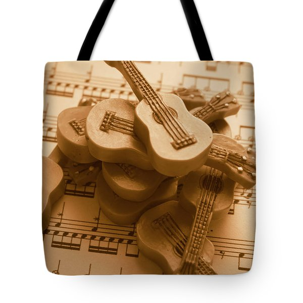 Country And Western Guitars. Music Education Tote Bag