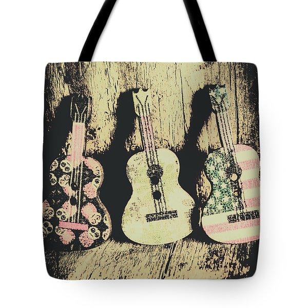 Country And Western Saloon Songs Tote Bag