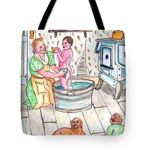 Country Bath Tote Bag