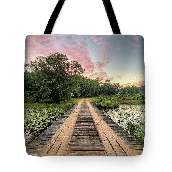 Tote Bag featuring the photograph Country Bridges by JC Findley