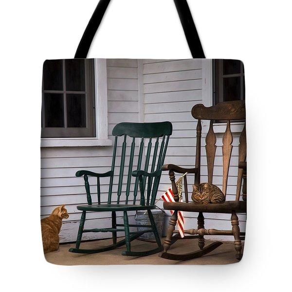 Country Cats Tote Bag