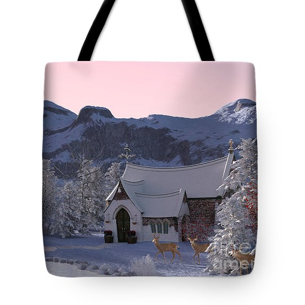 Country Church Tote Bag by Methune Hively