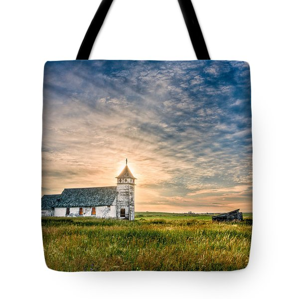 Country Church Sunrise Tote Bag