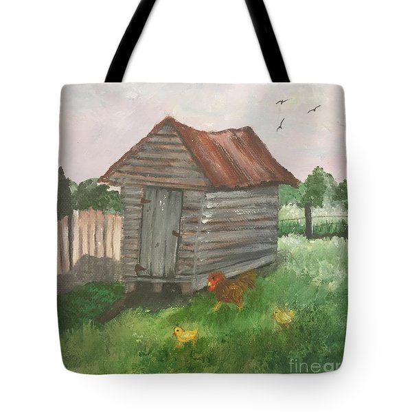 Country Corncrib Tote Bag by Lucia Grilletto