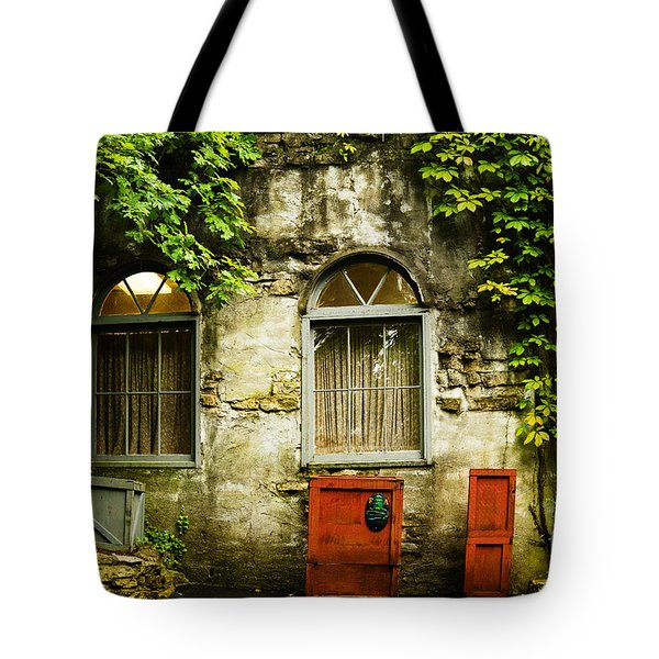Tote Bag featuring the photograph Country Cottage And Six Pane Windows by MaryJane Armstrong