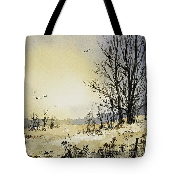 Tote Bag featuring the painting Country Dawn by James Williamson