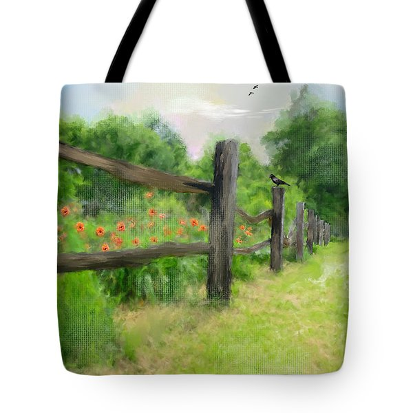 Country Drive Tote Bag by Mary Timman