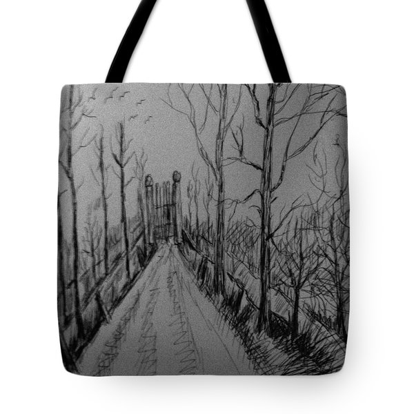 Country Driveway Tote Bag
