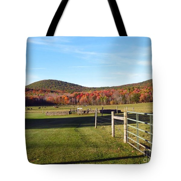 Country Farm And Family Plot Tote Bag