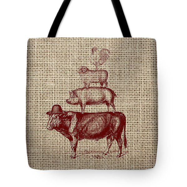 Country Farm Friends 2 Tote Bag