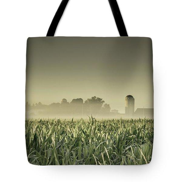 Country Farm Landscape Tote Bag
