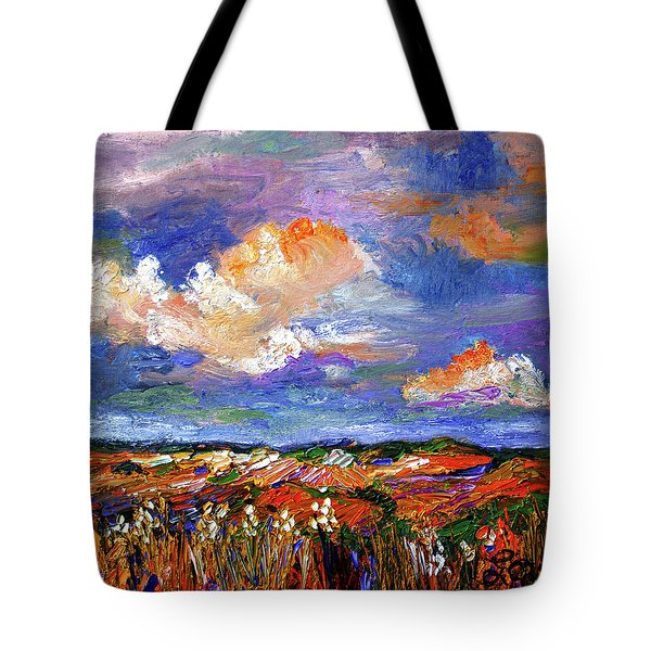 Country Fields Impressionist Landscape Tote Bag