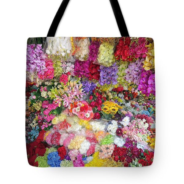 Country Flower Garden Colourful Design Tote Bag