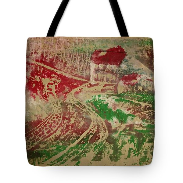Country Home With Cottage Tote Bag