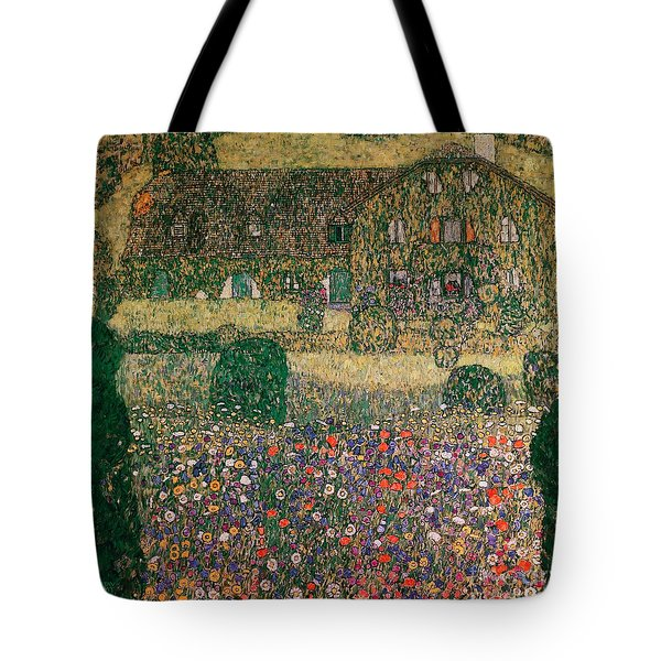 Country House By The Attersee Tote Bag by Gustav Klimt