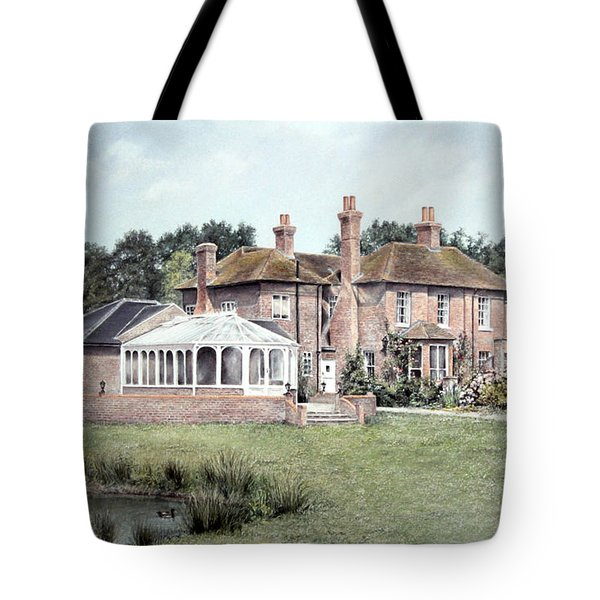 Tote Bag featuring the painting Country House In England by Rosemary Colyer