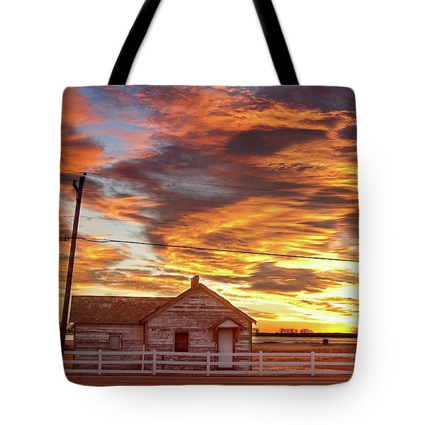 Country House Sunset Longmont Colorado Boulder County Tote Bag by James BO  Insogna