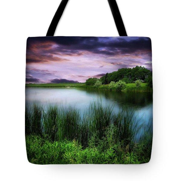Country Lake Tote Bag