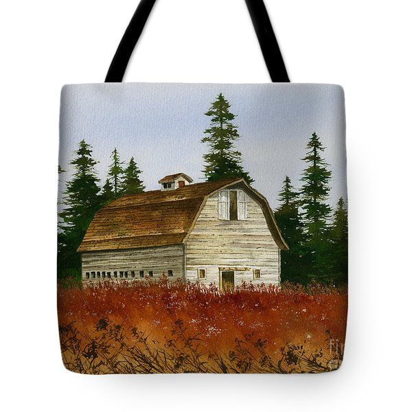 Tote Bag featuring the painting Country Landscape by James Williamson