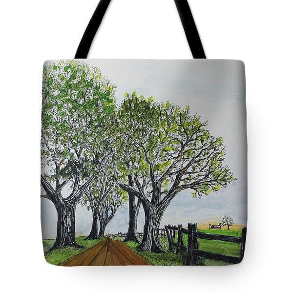 Country Lane 150711 Tote Bag by Jack G  Brauer