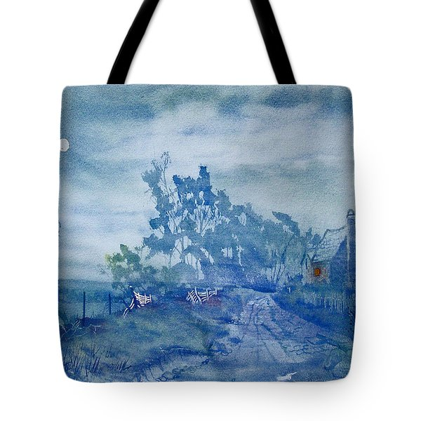 Country Lane By Moonlight Tote Bag