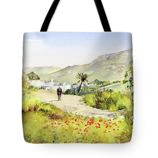 Country Lane In Spring Tote Bag by Margaret Merry